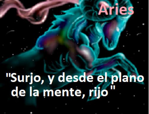 """Meditación Luna Llena en Aries, """"Surjo y desde el plano de la mente, rijo""""."""